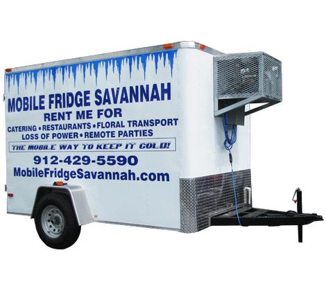 Refrigerated trailer mobile fridge savannah for Trailer rental savannah ga